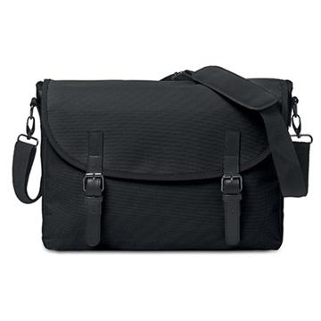 Εικόνα της Mid Ocean Brands MO8609-03 PADUA MESS Τσάντα ταχυδρόμου μαύρη