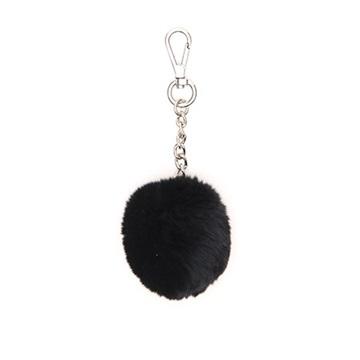 Εικόνα της Gabs Ponpon Γούνινο Μπρελόκ (fur bag charm) μαύρο