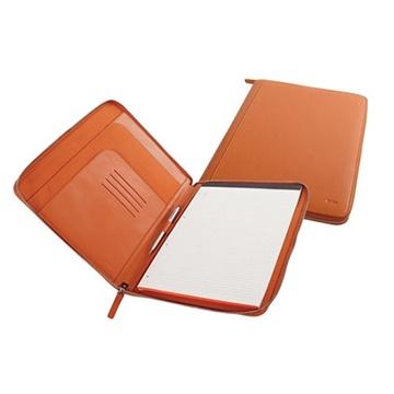 Εικόνα της Nava SM875A Smooth Leather A4 folder πορτοκαλί