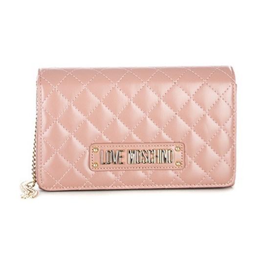 Εικόνα της Love Moschino 4118PP17LA0600 Καπιτονέ Τσάντα Ώμου (Shoulder Bag) Ροζ