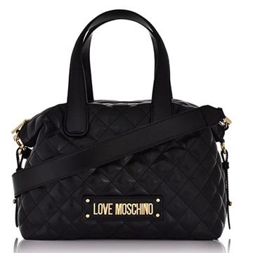 Εικόνα της Love Moschino 4005PP18LA0000 Καπιτονέ Τσάντα Χειρός Bowling Μαύρη