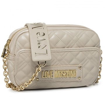 Εικόνα της Love Moschino 4002PP1ALA0110 Καπιτονέ Τσαντάκι Ώμου (Quilted Crossbody Bag) Ivory