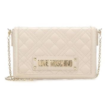 Εικόνα της Love Moschino 4054PP1ALI0110 Καπιτονέ Τσαντάκι Ώμου (Quilted Crossbody Bag) Ivory