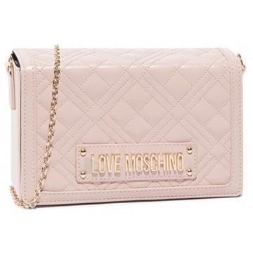 Εικόνα της Love Moschino 4054PP1ALI0600 Καπιτονέ Τσαντάκι Ώμου (Quilted Crossbody Bag) Rose