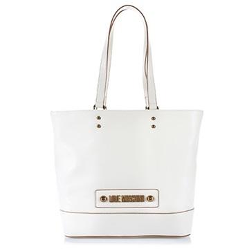 Εικόνα της Love Moschino 4030PP1ALD0100 Τσάντα Χειρός (Tote Bag) Λευκή