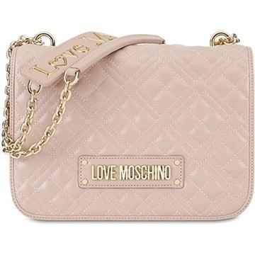 Εικόνα της Love Moschino 4003PP1ALA0600 Τσάντα Ώμου Καπιτονέ Ροζ