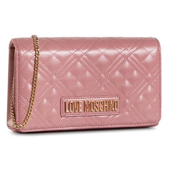 Εικόνα της Love Moschino JC4059PP1BLA0621 Τσάντα Ώμου Καπιτονέ Ροζ