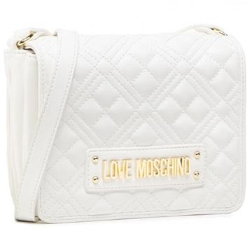 Εικόνα της Love Moschino JC4002PP1CLA0100 Καπιτονέ Τσάντα Ώμου Λευκή