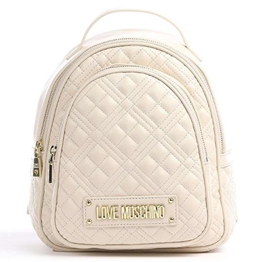 Εικόνα της Love Moschino JC4209PP0CKA0110 Καπιτονέ σακίδιο πλάτης (Backpack) Κρεμ